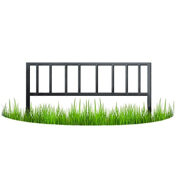 Металлический забор узор №12