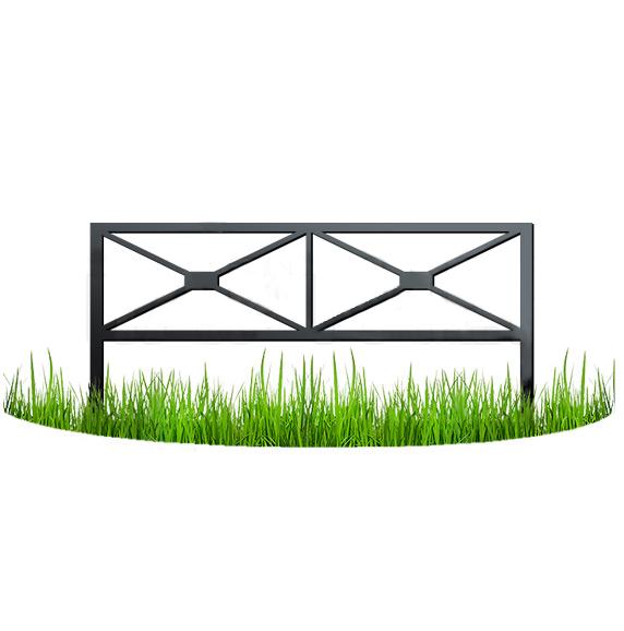 Металлический забор - узор №13