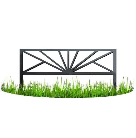 Металлический забор - узор №15