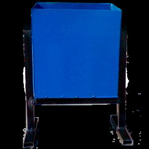 Металлическая урна для мусора