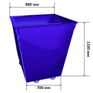 Контейнер для мусора без крышки на колесиках