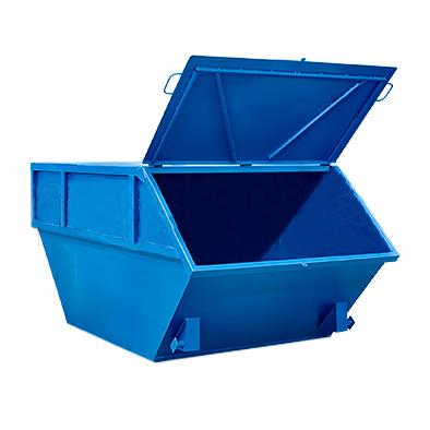 Бункер для мусора с крышкой